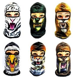 24 Units of Animal Faces Ninja Face Mask - Unisex Ski Masks