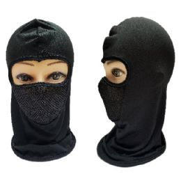 24 Units of Black Only Ninja Face Mask - Unisex Ski Masks