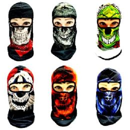 24 Units of Ninja Face Mask [Graphic Skull] - Unisex Ski Masks