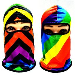 24 Units of Rainbow Assortment Ninja Face Mask - Unisex Ski Masks