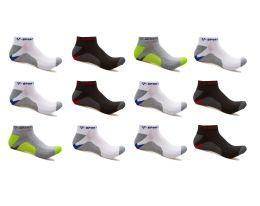 240 Units of Alberto Cardinali Mens No Show Low Cut Sport Ankle Socks - Mens Ankle Sock