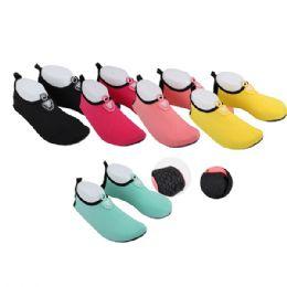 36 Units of Wholesale Women's Water Shoes, Aqua Shoes - Women's Aqua Socks