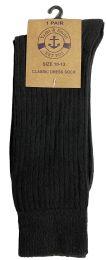 24 Units of Yacht & Smith Mens Fashion Designer Dress Socks, Cotton Blend, Textured Design Knit (24 Pairs Black) - Mens Dress Sock