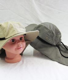 36 Units of Kid's Bucket Hat With Draw String - Sun Hats