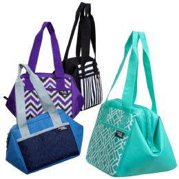"24 Units of 10"" Inch Insulated Triangle Frame Insulated Cooler In 4 Assorted Colors - Lunch Bags & Accessories"
