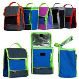 """24 Units of 10"""" Convertible Flap Top Cooler in 5 Assorted Colors - Lunch Bags & Accessories"""