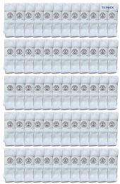 72 Units of Yacht & Smith 28 Inch Men's Long Tube Socks, White Cotton Tube Socks Size 13-16 - Mens Tube Sock