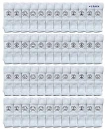 48 Units of Yacht & Smith 28 Inch Men's Long Tube Socks, White Cotton Tube Socks Size 13-16 - Mens Tube Sock