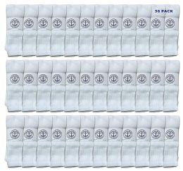 36 Units of Yacht & Smith 28 Inch Men's Long Tube Socks, White Cotton Tube Socks Size 13-16 - Mens Tube Sock