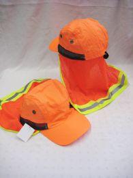 36 Units of Neon Orange Sun Cap With Sun Cover - Sun Hats