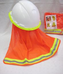 36 Units of Neon Orange Hard Hat Cover Only - Sun Hats