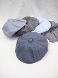 36 Units of Man's Flat Hat Assorted Light Colors - Sun Hats