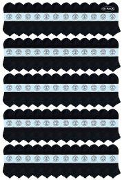 60 Units of Yacht & Smith Men's No Show Ankle Socks, Premium Quality Cotton. Size 10-13 Black - Mens Ankle Sock