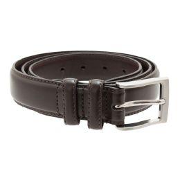 36 Units of Men's Genuine Leather Dress Belts, Brown Color Only - Mens Belts