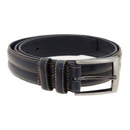 36 Units of Men's Genuine Leather Dress Belts,Navy Color Only - Mens Belts