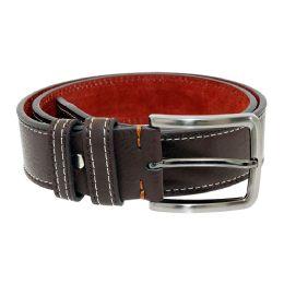 36 Units of Men's Genuine Leather Dress Belts,Brown Color Only - Mens Belts
