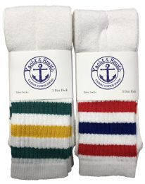 72 Units of Yacht & Smith Men's 30 Inch Premium Cotton King Size Extra Long Old School Tube Socks- Size 13-16 - Big And Tall Mens Ankle Socks