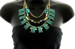 36 Units of Medium length necklace with three layers - Necklace