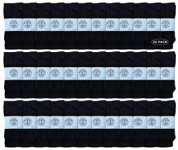 36 Units of Yacht & Smith 28 Inch Men's Long Tube Socks, Black Cotton Tube Socks Size 13-16 - Mens Tube Sock