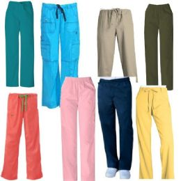 24 Units of Scrub Pants Assorted Colors - Nursing Scrubs