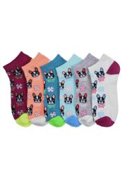 432 Units of Ladies Printed Casual Spandex Ankle Socks Size 9-11 - Girls Ankle Sock