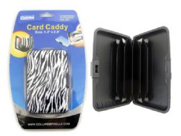 192 Units of Zebra Print Card Caddy - Card Holders and Address Books