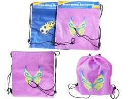 144 Units of Printed Drawstring Bag - Draw String & Sling Packs