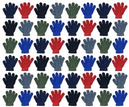 48 Units of Yacht & Smith Kids Warm Winter Colorful Magic Stretch Gloves Ages 2-5 - Kids Winter Gloves