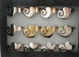 288 Units of Assorted Silvertone And Goldtone Adjustable Ring With Heart Shape - Rings
