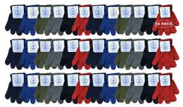 36 Units of Yacht & Smith Kids Warm Winter Colorful Magic Stretch Gloves Ages 2-5 - Kids Winter Gloves