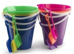 48 Units of 9 Inch Pail And Shovel Set - Beach Toys
