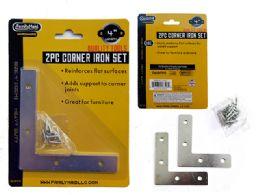 96 Units of 2pc Flat Corner Iron Supports - Hardware