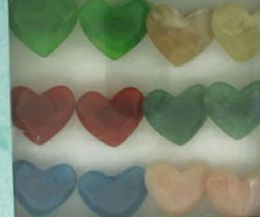 36 Units of Heart Shaped Acrylic On Black Acrylic Band Assorted Colors - Rings