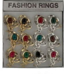 36 Units of Gold Tone And Silver Tone Rings With An Intricate Design - Rings