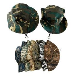 36 Units of Floppy Boonie Hat [assorted Camo] - Bucket Hats