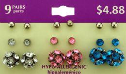 36 Units of Hypo Allergenic Stud Earrings - Rings