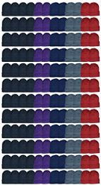 144 Units of Yacht & Smith Ladies Winter Toboggan Beanie Hats In Assorted Colors - Winter Beanie Hats