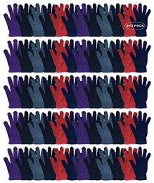 240 Units of Yacht & Smith Women's Warm And Stretchy Winter Magic Gloves - Knitted Stretch Gloves