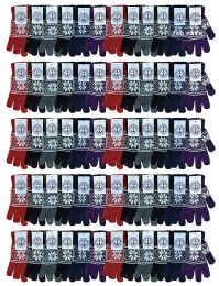 240 Units of Yacht & Smith Wholesale Bulk Winter Thermal Gloves - Knitted Stretch Gloves