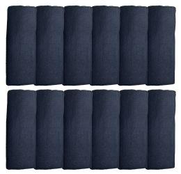 72 Units of Yacht & Smith Unisex Warm Winter Black Fleece Scarf Size 60x12 - Winter Scarves
