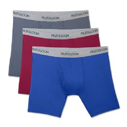 72 Units of Fruit Of The Loom Boys Underwear, Boxer Brief Assorted Colors Size L - Boys Underwear
