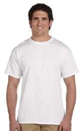 72 Units of Men's Fruit Of The Loom 50/50 Cotton Blend White T-Shirt, Size L - Mens T-Shirts