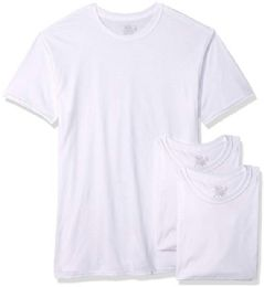 72 Units of Men's Fruit Of The Loom Polyester Blend White T-Shirt, Size L - Mens T-Shirts