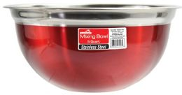 12 Units of 5 Quart Mixing Bowl Red - Pots & Pans