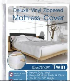 24 Units of Heavy Duty Zippered Mattress Cover Queen - Bed Sheet Sets