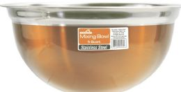 12 Units of 5 Quart Copper Stainless Steel Mixing Bowl - Stainless Steel Cookware