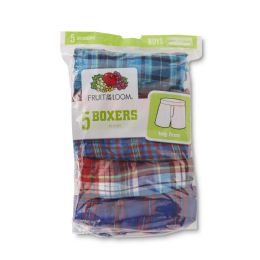 24 Units of Men's Fruit Of the Loom 5 Pack Boxer Shorts, Size 3XL - Mens Underwear