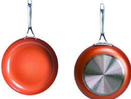 6 Units of Non Stick Ceramic Copper Coated Fry Pans - Frying Pans and Baking Pans