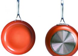 6 Units of Non Stick Ceramic Copper Coated Fry Pans 11 Inch - Frying Pans and Baking Pans