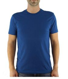 12 Units of Mens Cotton Crew Neck Short Sleeve T-Shirts Royal Blue, Large - Mens T-Shirts